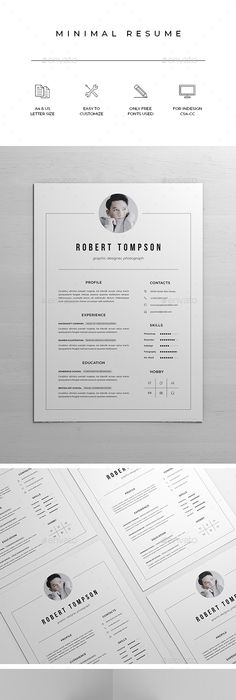 Resume Templates Indesign New Resumecv Template  Cv Template Resume Cv And A4