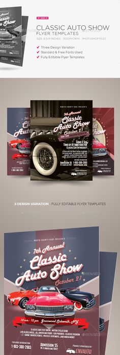 Vintage Car Show Flyer  Flyer Template Template And Event Flyers
