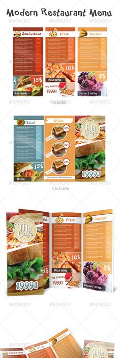 Restaurant Menu Designs For Inspiration  Restaurant Menu Design