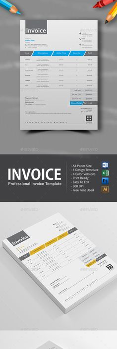 Invoice   Template  Proposal templates and Font logo