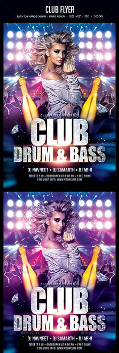 Club Flyer Psd flyer templates, Flyer template and Template