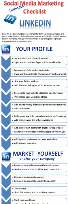 How to build the perfect LinkedIn profile - Infographic - best of australian blueprint for career development competencies