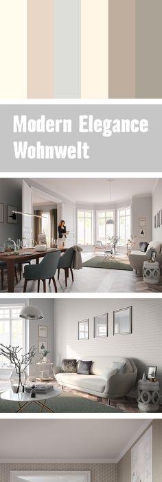 Die Wohnwelt Modern kombiniert werden moderne Elemente wie