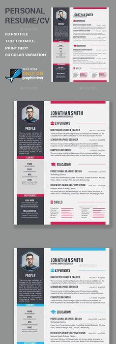 Modern CvResume Templates  Cover Letter  Portfolio Page  Cv