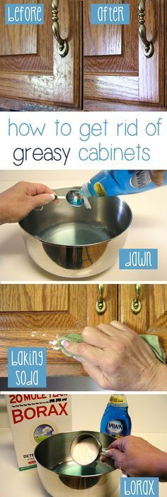 How to Clean Grease From Kitchen Cabinet Doors   White vinegar ...