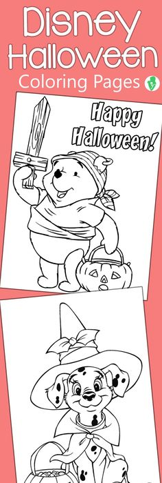 10 Amazing Disney Halloween Coloring Pages For Your Little Ones