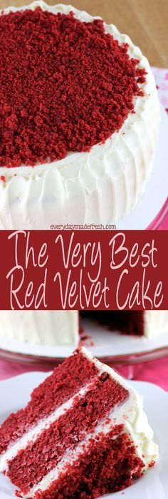 Red Velvet Cake | Recipe | Red velvet, Cream cheeses and Everyday food