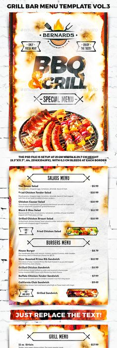 Italian Menu Restaurant Brochure Psd templates, Restaurant bar and - bar menu template