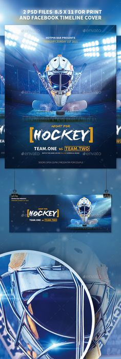 Hockey Flyer | Flyer template, Hockey and Template