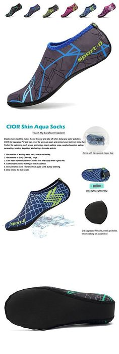 [3rd Upgraded Version] CIOR Durable Sole Colorful Barefoot Water Skin Shoes  Aqua Socks For