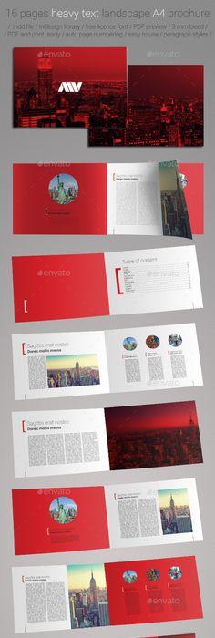 A Landscape Brochure Template Corporate Brochure Brochure - Landscape brochure template
