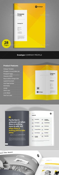 Company Profile Brochure  Template Indesign Indd  Company