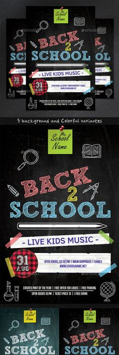 Back To School Party Flyer  School Parties Party Flyer And Flyer