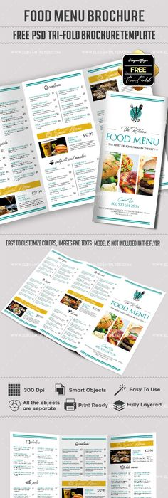 Free Food Catering Psd Bi Fold Psd Brochure Template Brochure