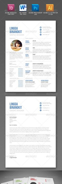 Minimal Resume Cv Template  Graphic Resume Resume Styles And Cv
