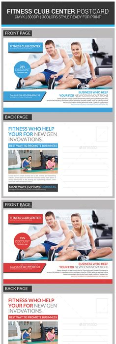 Fitness Postcard Psd Template