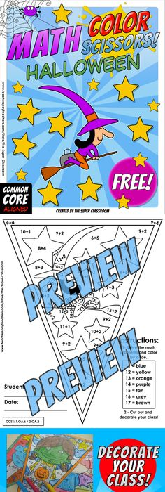 Math and Colors Fractions - FREE VERSION - NO2 - Common Core Aligned ...