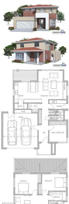 Modernes Design Haus mit Garage  Pergola - Grundriss - offene kuche wohnzimmer grundriss