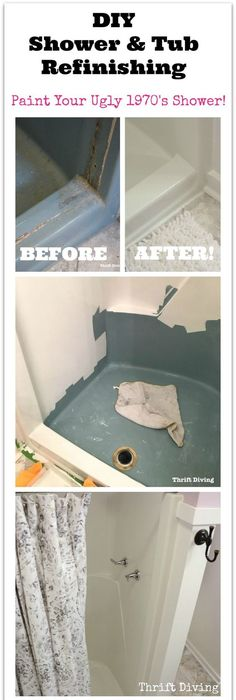 Great Paint For Bath Tub Tall Spray Bathtub Shaped Lowes Shower Caddy Bathroom Faucets Single Hole Old Replace Shower Faucet FreshKohler Tub Spout DIY Quick Fix Home Repairs | Bathtubs, Tutorials And House