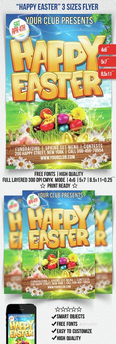 Happy Easter Flyer Template  Party Flyer Templates For Clubs
