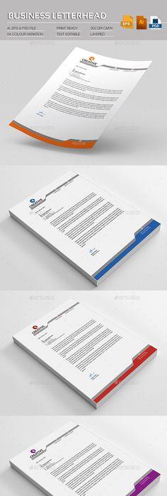 Modern  Business Letterhead On Behance  Logo  Print Designs