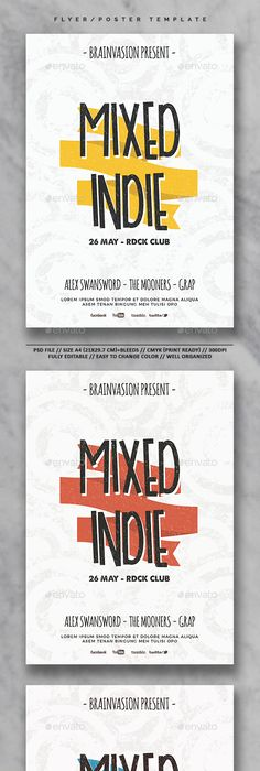 Indie Flyer/Poster Template Vol.26