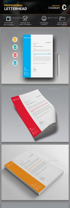 Letterhead letterhead template stationery printing and print business letterhead by createart accmission Image collections