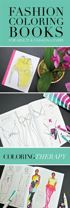 Fashion Coloring Books For Adults Color Therapy