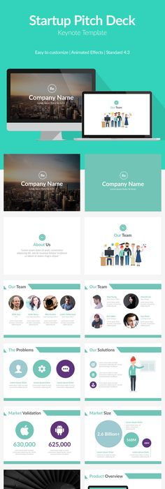 Pitch Deck Bundle | Pitch, Presentation templates and Template