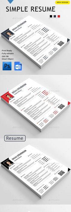 Clean Resume Cv resume template, Template and Resume cv - Simple Format For Resume