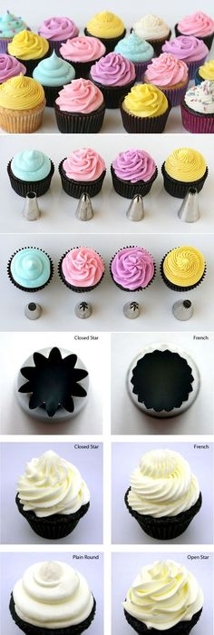 Flower Gallery Cupcakes | Cupcake Decorating Techniques, Decorated Cupcakes  And Flower Cupcakes