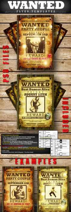 10 Great Wanted Poster Template Collection Design Tuts