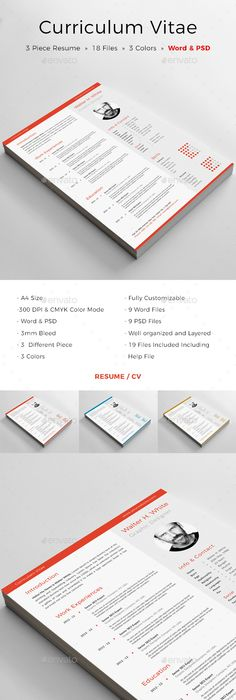 Clean Resume Template, Resume ideas and Cover letter template - simple resume format