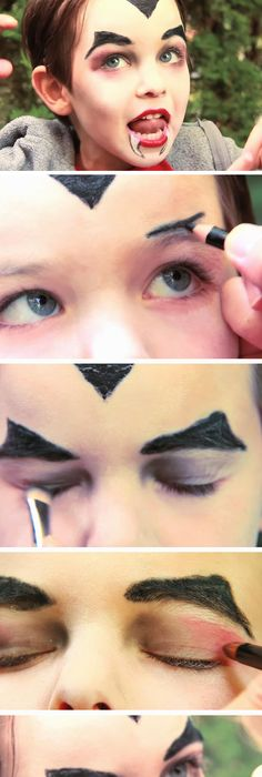 Easy Kitty-Cat DIY Face Painting Ideas for Kids Easy Halloween - face painting halloween makeup ideas