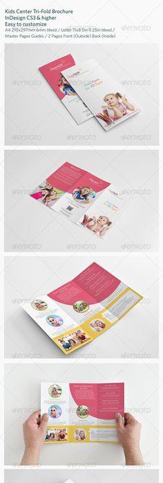 Kindergarten Tri Fold Brochure  Microsoft Word Template