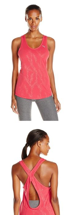 $22.99 - Puma Women\u0027s WT Mesh It Up Layer Tank Top Cayenne #puma
