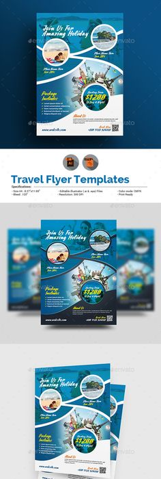 Tour Travel Agency Flyer Template  Flyer Template Template And