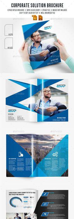 Green Energy Brochure Templates  Brochure Template Corporate