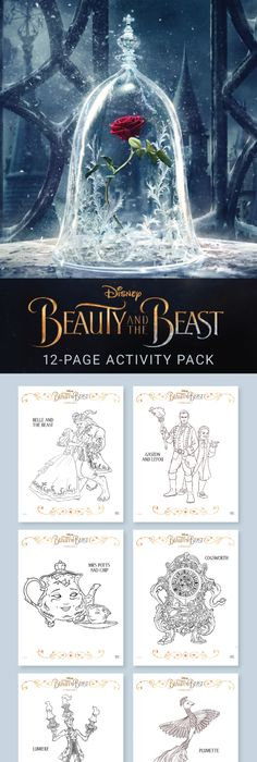 Beauty and the Beast free printables like coloring sheets and more - best of free coloring pages of rappers
