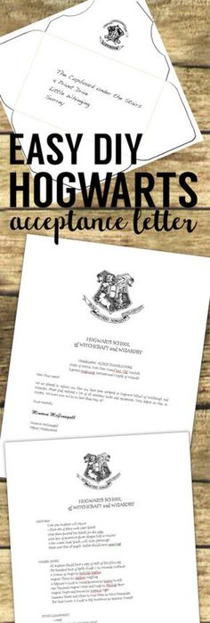 Personalized Hogwarts Acceptance Letter With Custom Wand  Etsy