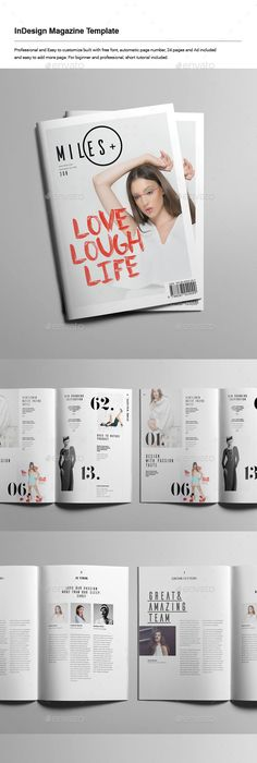 Travel Magazine -50 pages Indesign Template | Indesign templates ...