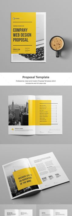 Project Proposal Template Indesign Indd  A And Us Letter Size