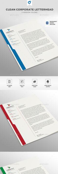 Letterhead A4, Illustrators and Fonts