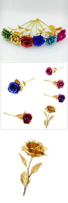 Valentines Jewelry 24K Gold Rose Dipped Foil Plated Thanksgiving