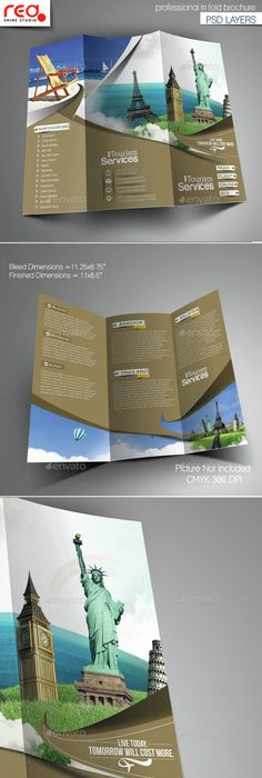 Corporate Trifold Business Brochure  Business Brochure Brochure