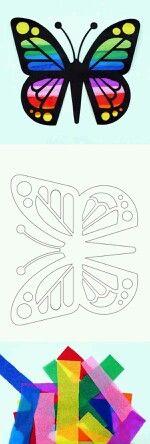 Butterfly Template  Denenecek Projeler    Free