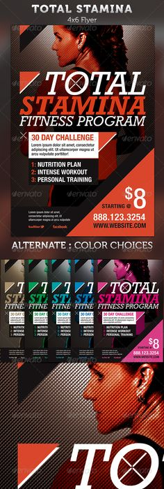 Fitness Flyer  Gym Flyer V By Satgur Design Studio On