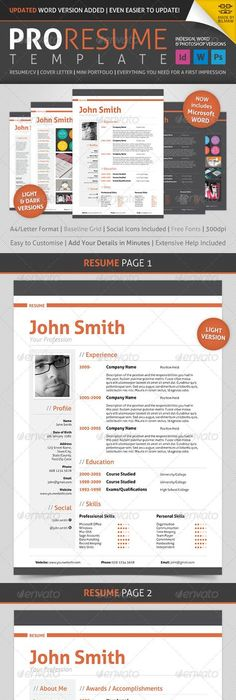 Freebie Clean One Page Resume  Psd Template  Psd Templates