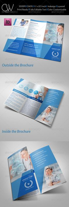 Doctor Medical Hospital Health TriFold Brochure   Tri Fold