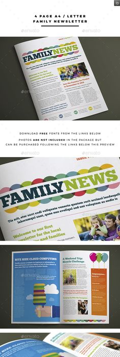 Pages Newsletter  Newsletter Templates Print Templates And